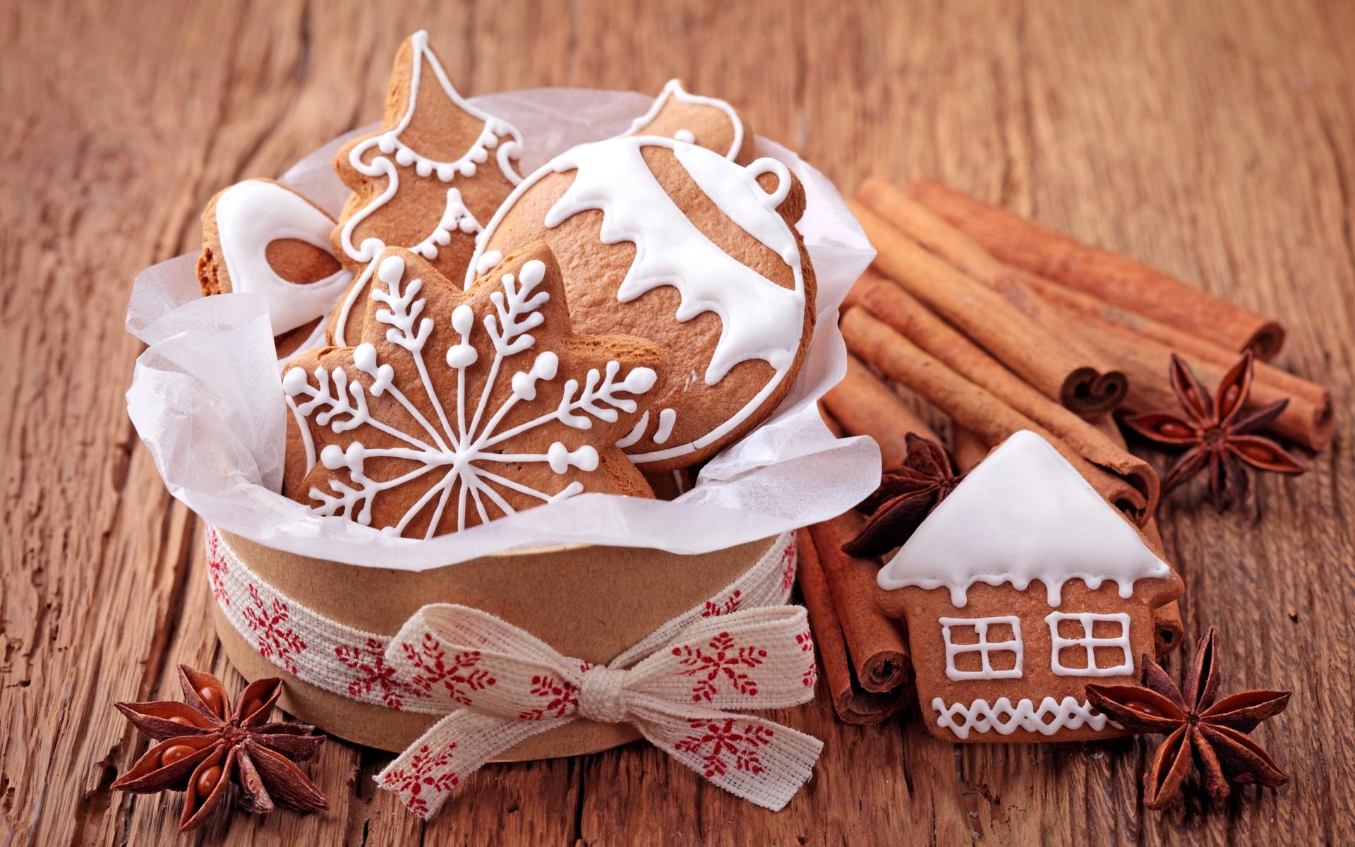 фигурки, снежинка, Печенье, шарик, новогоднее, домик