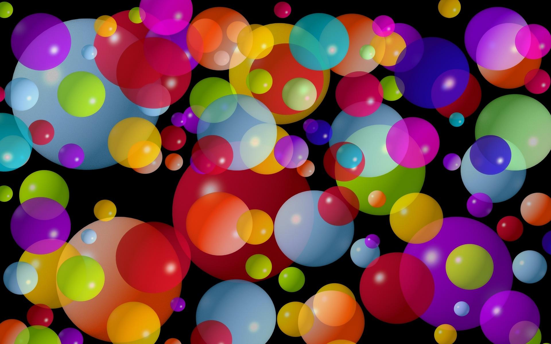 шары, разноцветные, маленькие, средние, Круги, большие