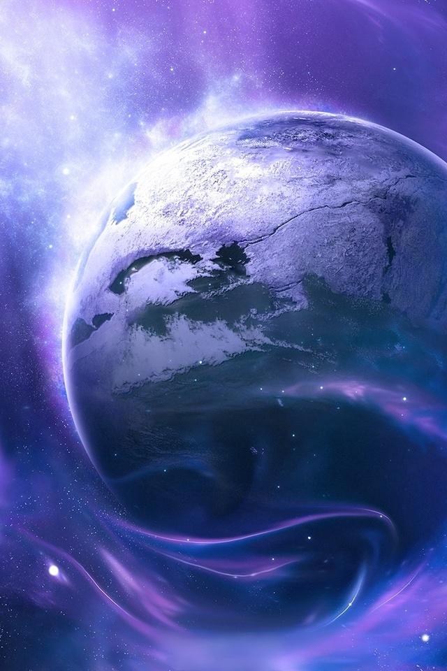 colors, light, sci fi, clouds, Planet