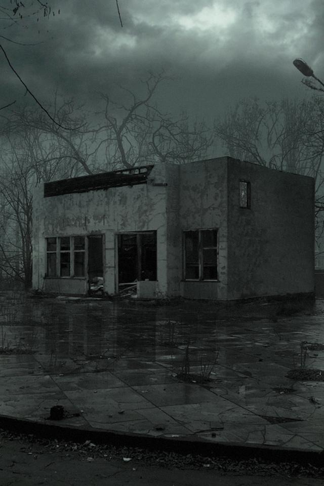 пустош, ночь, украина, Припять, дождь