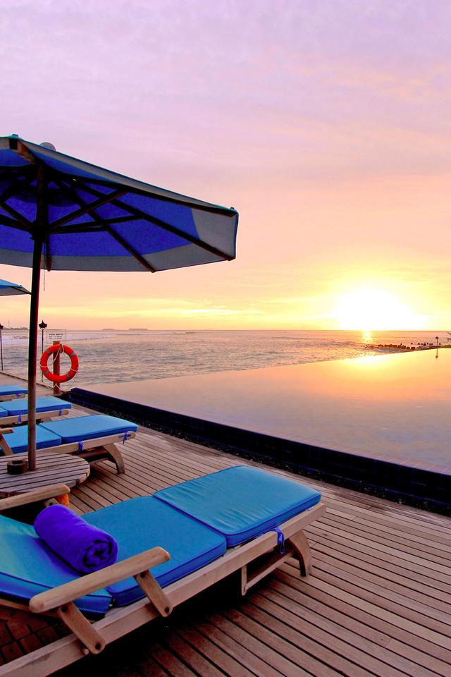 beautiful, sun, sunrise, reflection, Nature, pool, sea, ocean, sky, sunset, sky, water