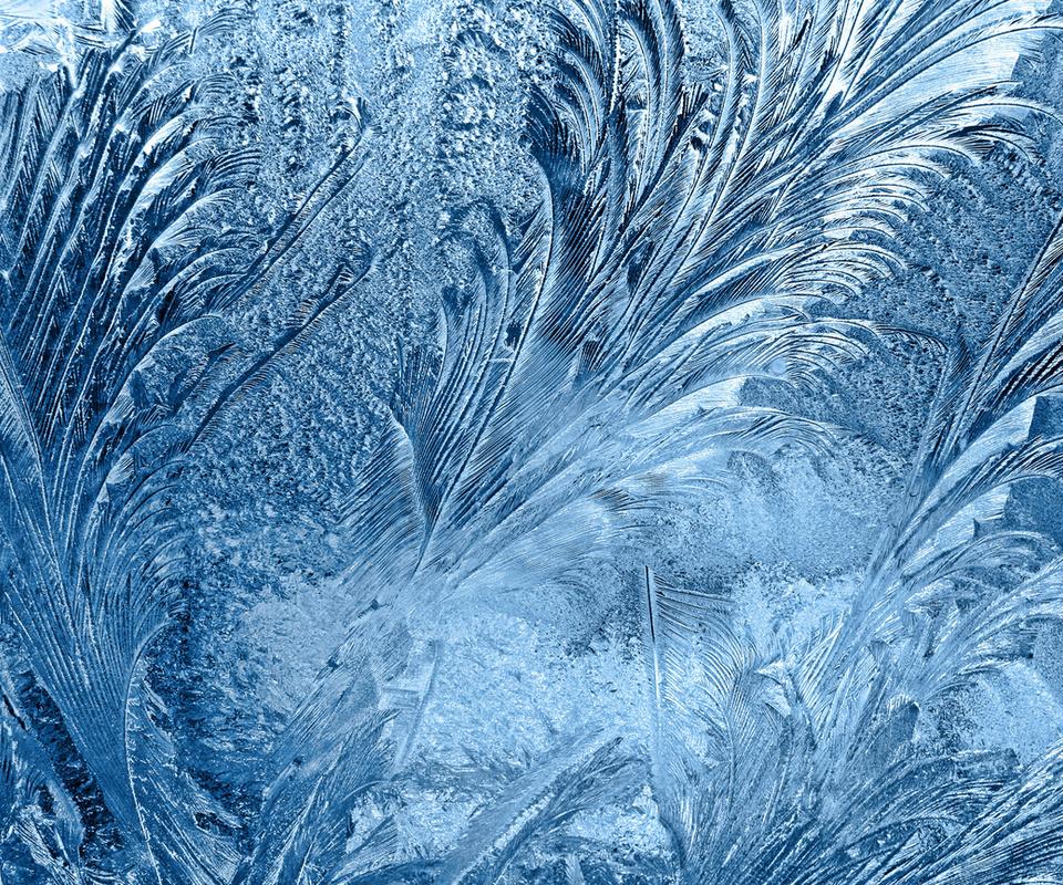 мороз, зима, узор, стекло, лёд