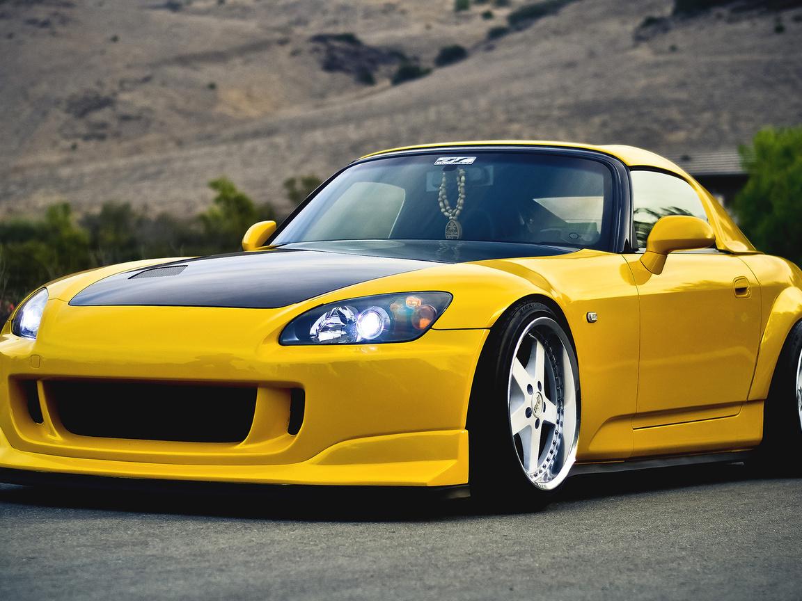 тюнинг, хонда, tuning, yellow, s2000, 2000, желтый, Honda