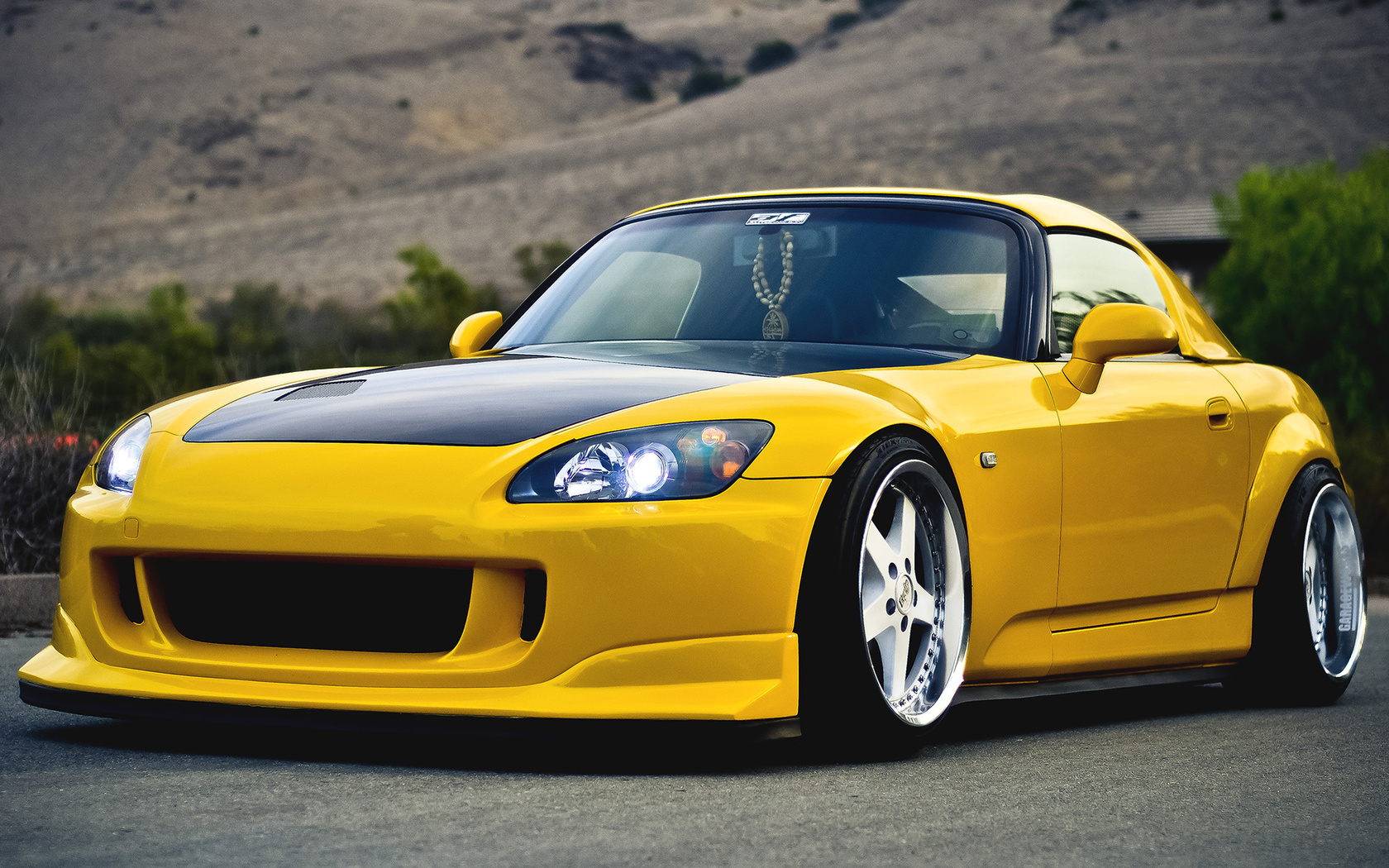 тюнинг, хонда, tuning, yellow, s2000, 2000, желтый, Honda
