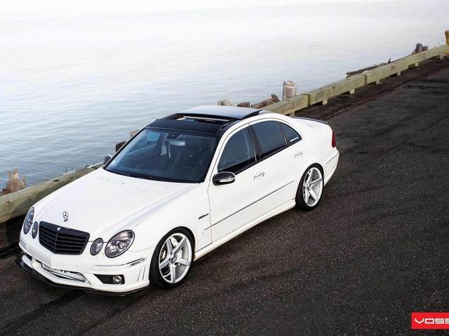 tuning, mercedes, автомобиль, Car, e class, white, wallpapers, beautiful, benz, vossen