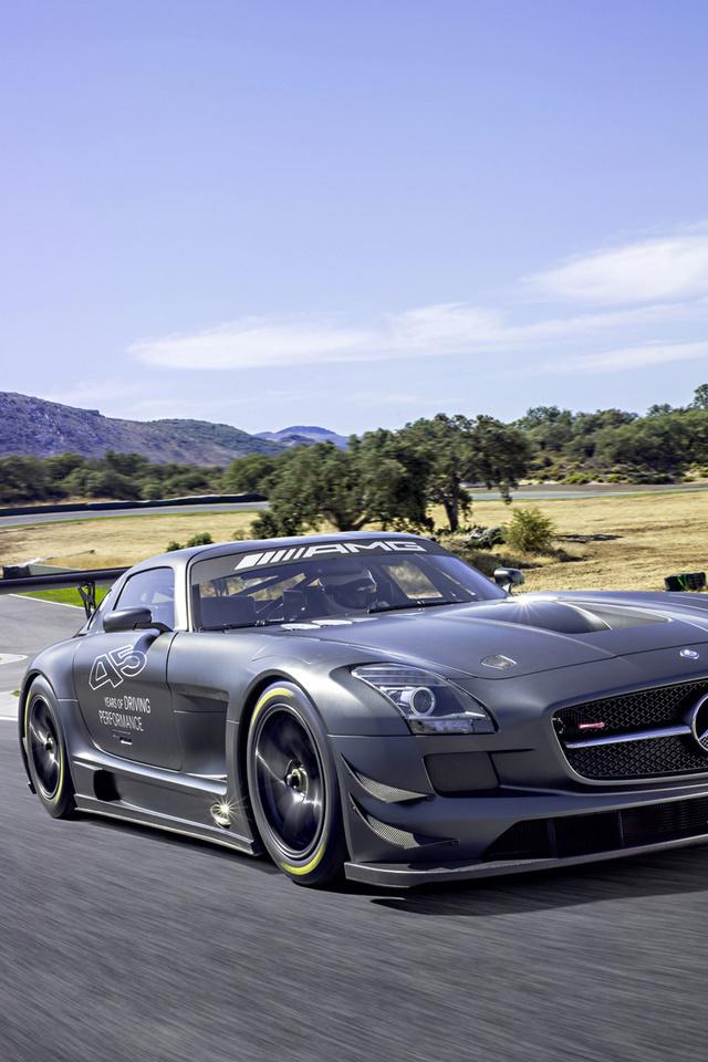 gt3, amg, sky, sportcar, motion, tuning, sls, road, Mercedes-benz