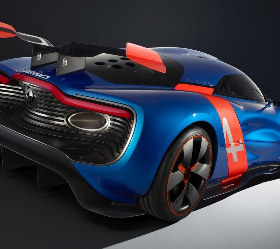concept, alpine, a110-50, алпайн, вид сзади, рено, Renault, концепт