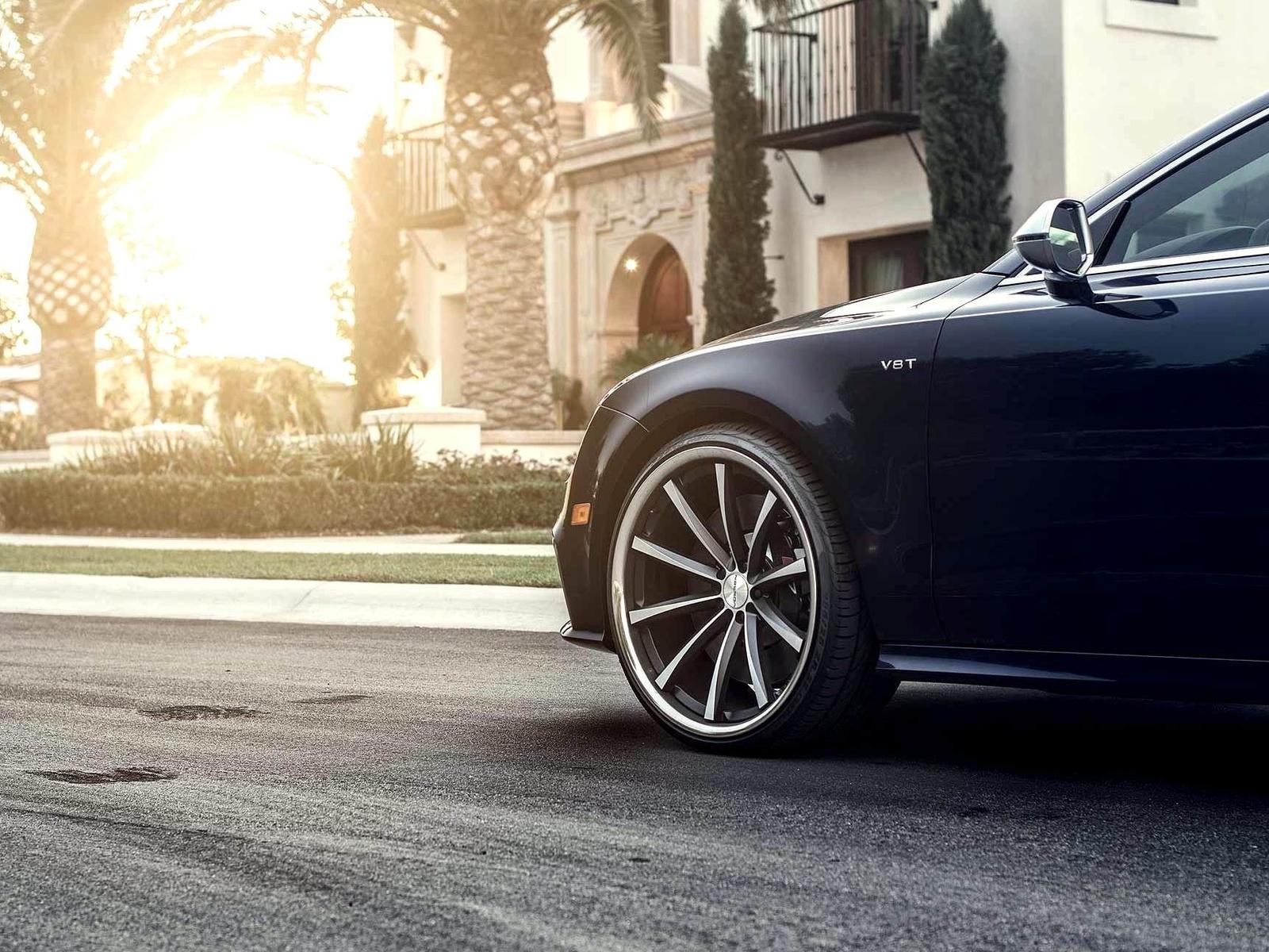Car, wallpapers, beautiful, a7, tuning, автомобиль, обоя, sun, audi, wheels, vossen