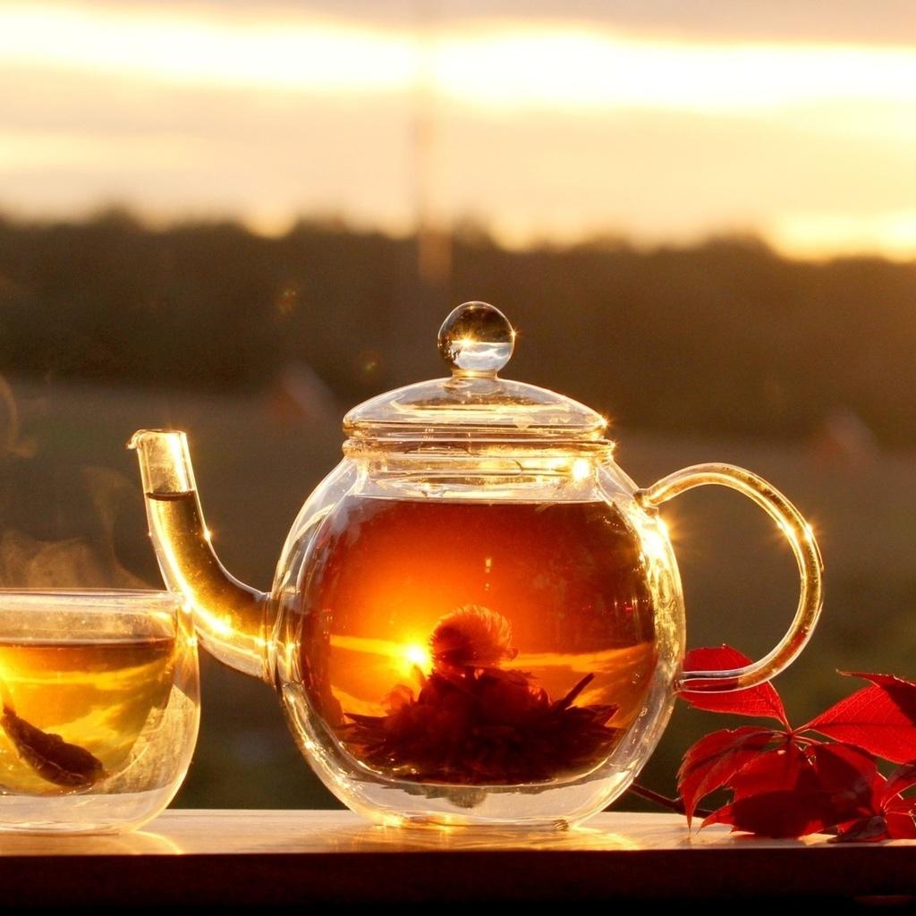 горячий, Еда, чай, обои, листья, фон, чаепитие