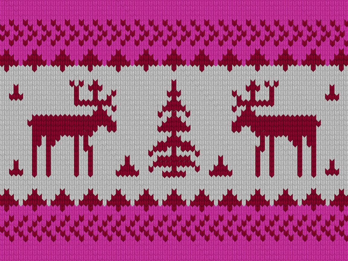 орнамент, лоси, зима, Олени, новый год