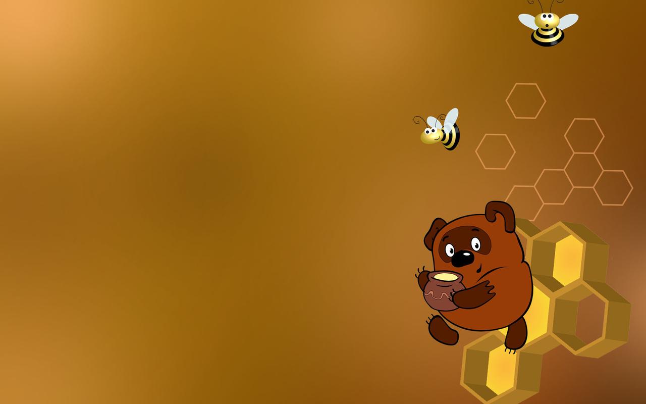 мёд, пчелы, Винни-пух, соты