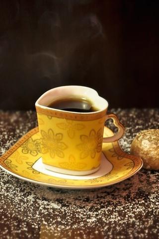 чай, желтый, Еда, форма, кружка, сердце, чашка, сердечко