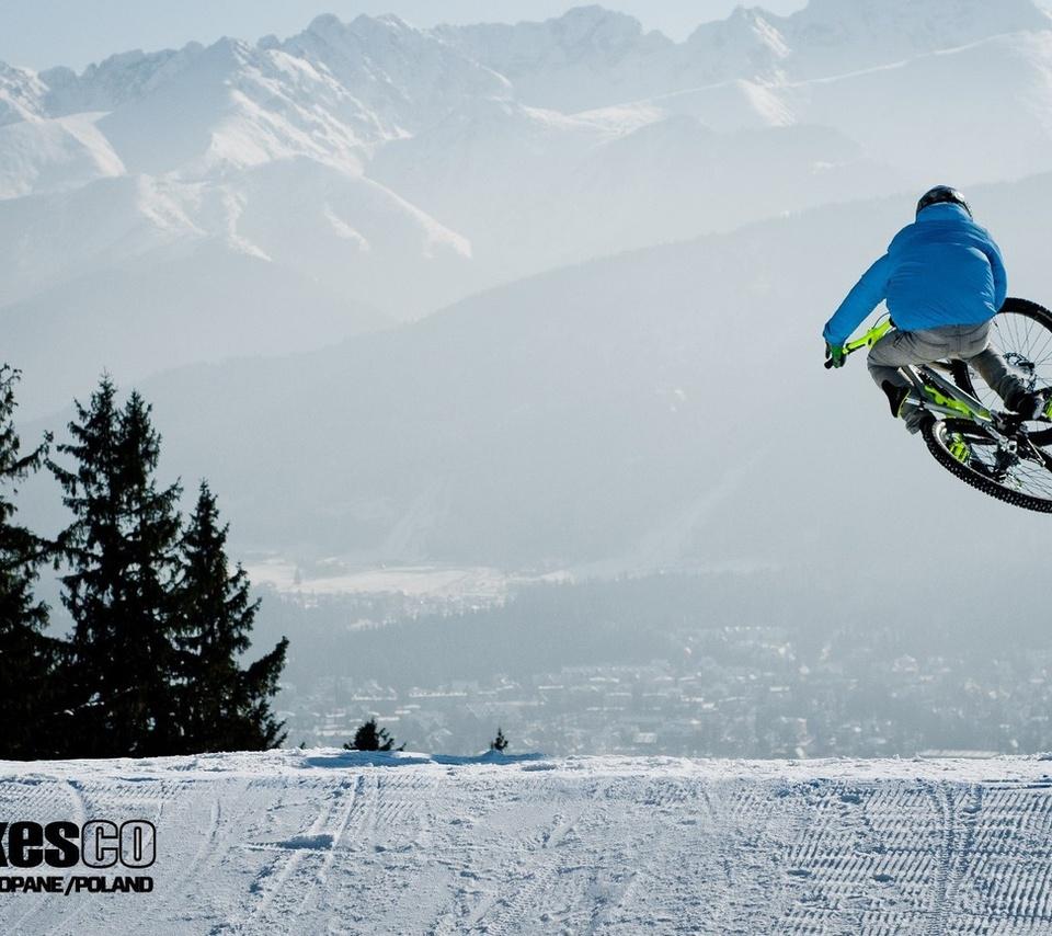 велосипед, Mtb, downhill, bike, freeride, winter.snow, снег, зима